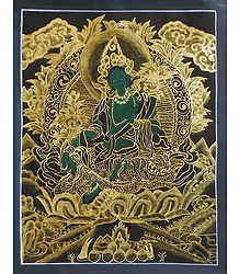 Green Tara - Thangka Painting