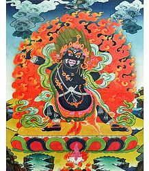 Vajrapani - Thangka Screen Print