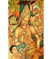 Ajanta Painting Reprint - Photo Print