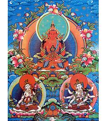 Amitayus Buddha - Thangka Poster