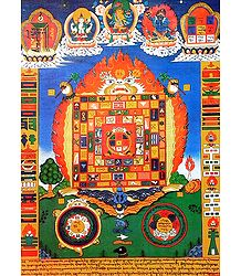 Tibetan Thangka of Protection