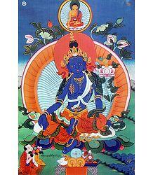 Buy Online Blue Tara - Thangka Poster
