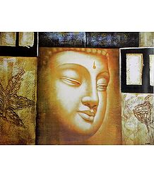 Face of Buddha - Unframed Poster