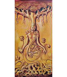 Lord Buddha Under Bodhi Tree