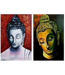 Face of Lord Buddha - Set of 2 Posters
