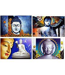 Gautam Buddha - Set of 4 Posters