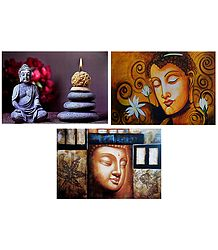 Lord Buddha - Set of 3 Posters