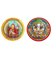 Padmasambhava and Chenregiz - Set of 2 Buddhist Stickers