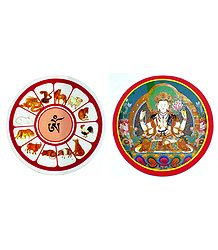 Set of 2 Buddhist Stickers