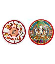 Set of 2 Buddhist Stickers