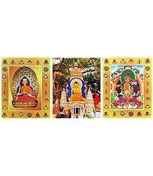 Buddha and Manjusri - Set of 3 Posters