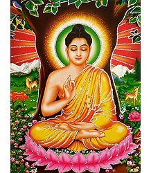 Meditating Buddha - Unframed Glitter Poster