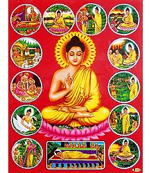 Life of Lord Buddha - Laminated Poster
