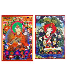 Padmasambhava and Saraswati - Set of 2 Posters