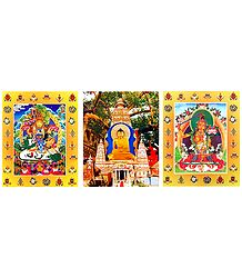 Buddha, Vaishravana and Manjusri - Set of 3 Posters - Unframed
