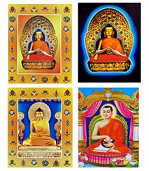 Buddha, and Milarepa - Set of 4 Posters