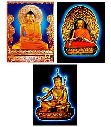 Lord Buddha and Guru Padmasmbhava - Set of 3 Posters