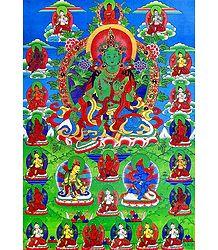 Buy Online Green Tara Poster
