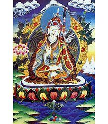 Guru Padmasambhava - Thangka Poster