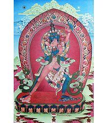 Kalachakra in Yab-Yum - Thangka Poster