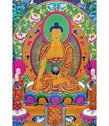 Lord Buddha - Thangka Poster