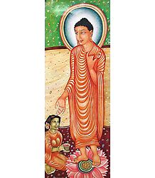 Lord Buddha and His Disciple