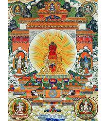 Amitabha Buddha - Thangka Poster