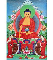 Medicine Buddha - Thangka Poster