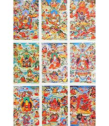 Nine Gurus of Buddhist Religion