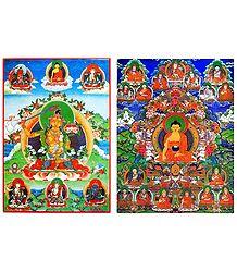 Buddha and Manjusri - Set of 2 Posters