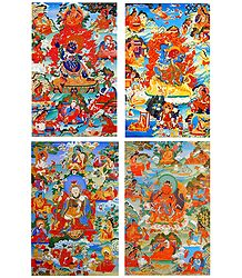 Manifestations of Padmasambhava - Set of 4 Posters