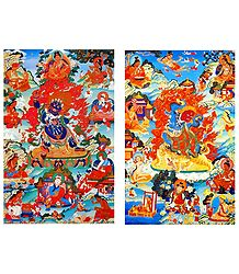 Manifestations of Padmasambhava - Set of 2 Posters