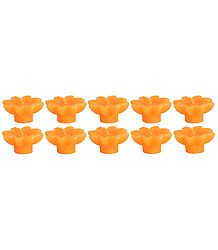 Set of Ten Orange Aroma Floating Wax Candles