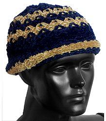 Stripe Beanie Woolen Hat