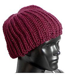 Ladies Hand Knitted Maroon Woolen Beanie Cap