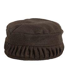 Dark Brown Himachali Woolen Cap