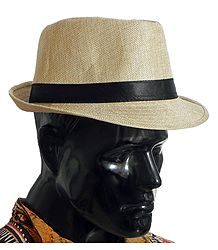 Light Beige Fedora Hat