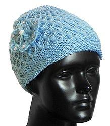 Blue Woolen Beannie Cap - Online Shop