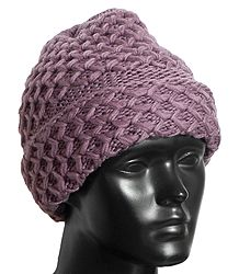 Dark Mauve Woolen Cap
