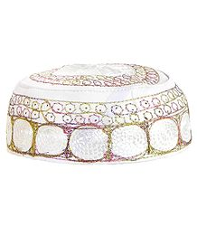 Muslim Prayer Cap with Embroidery