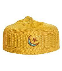 Buy Muslim Yellow Prayer Cap