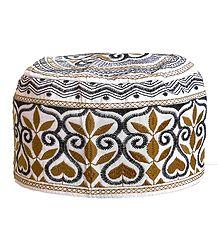 Embroidered Muslim Prayer Cap