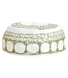 Embroidered Muslim Prayer Cap