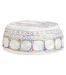 Embroidered Muslim Cotton Prayer Cap