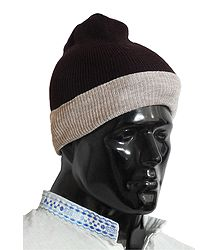 Dark Brown Gents Woolen Beannie Cap