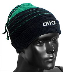 Cyan Green with Black Ladies Beanie Woolen Cap