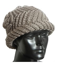 Chamoise Brown Woolen Beannie Cap