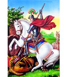 Saint George and Dragon - Poster