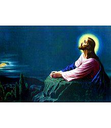 Jesus in Gethsemane - Poster