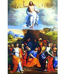 Jesus Christ's Ascension to Heaven - Poster